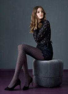 The Bold Switch From Plain To Decorated Hosiery
